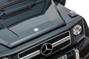 Masinuta electrica Mercedes G63 Solo, 2 baterii 12V, 6 roti cauciuc EVA, 4x4, 1 loc, 4 motoare, negru20
