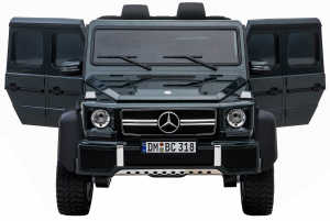 Masinuta electrica Mercedes G63 Solo, 2 baterii 12V, 6 roti cauciuc EVA, 4x4, 1 loc, 4 motoare, negru11