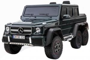 Masinuta electrica Mercedes G63 Solo, 2 baterii 12V, 6 roti cauciuc EVA, 4x4, 1 loc, 4 motoare, negru0