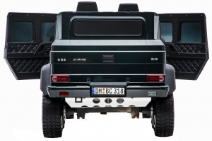 Masinuta electrica Mercedes G63 Solo, 2 baterii 12V, 6 roti cauciuc EVA, 4x4, 1 loc, 4 motoare, negru [16]