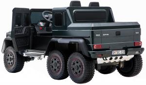 Masinuta electrica Mercedes G63 Solo, 2 baterii 12V, 6 roti cauciuc EVA, 4x4, 1 loc, 4 motoare, negru [14]