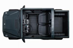 Masinuta electrica Mercedes G63 Solo, 2 baterii 12V, 6 roti cauciuc EVA, 4x4, 1 loc, 4 motoare, negru [34]
