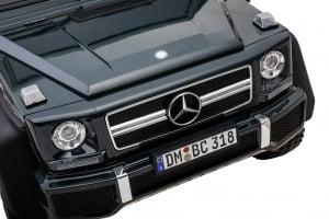 Masinuta electrica Mercedes G63 Solo, 2 baterii 12V, 6 roti cauciuc EVA, 4x4, 1 loc, 4 motoare, negru [21]