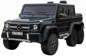 Masinuta electrica Mercedes G63 Solo, 2 baterii 12V, 6 roti cauciuc EVA, 4x4, 1 loc, 4 motoare, negru3