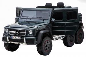 Masinuta electrica Mercedes G63 Solo, 2 baterii 12V, 6 roti cauciuc EVA, 4x4, 1 loc, 4 motoare, negru [13]