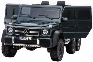 Masinuta electrica Mercedes G63 Solo, 2 baterii 12V, 6 roti cauciuc EVA, 4x4, 1 loc, 4 motoare, negru12