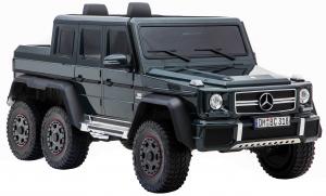 Masinuta electrica Mercedes G63 Solo, 2 baterii 12V, 6 roti cauciuc EVA, 4x4, 1 loc, 4 motoare, negru10