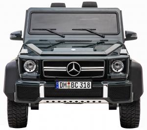 Masinuta electrica Mercedes G63 Solo, 2 baterii 12V, 6 roti cauciuc EVA, 4x4, 1 loc, 4 motoare, negru1