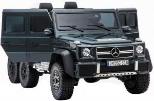 Masinuta electrica Mercedes G63 Solo, 2 baterii 12V, 6 roti cauciuc EVA, 4x4, 1 loc, 4 motoare, negru18