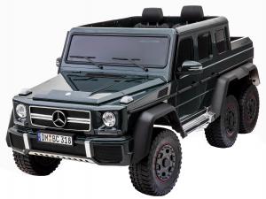 Masinuta electrica Mercedes G63 Solo, 2 baterii 12V, 6 roti cauciuc EVA, 4x4, 1 loc, 4 motoare, negru2
