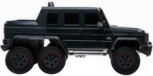 Masinuta electrica Mercedes G63 Solo, 2 baterii 12V, 6 roti cauciuc EVA, 4x4, 1 loc, 4 motoare, negru9