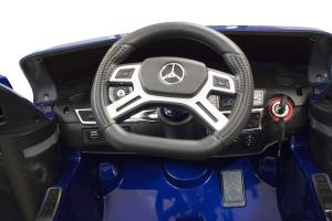Masinuta electrica Premier Mercedes GL63, 12V, roti cauciuc EVA, scaun piele ecologica, albastra [5]
