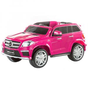 Masinuta electrica Premier Mercedes GL63, 12V, roti cauciuc EVA, scaun piele ecologica, roz [0]