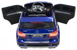 Masinuta electrica Premier Mercedes GL63, 12V, roti cauciuc EVA, scaun piele ecologica, albastra [4]