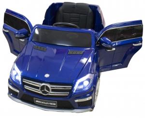 Masinuta electrica Premier Mercedes GL63, 12V, roti cauciuc EVA, scaun piele ecologica, albastra [0]
