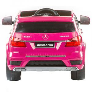 Masinuta electrica Premier Mercedes GL63, 12V, roti cauciuc EVA, scaun piele ecologica, roz [4]