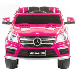 Masinuta electrica Premier Mercedes GL63, 12V, roti cauciuc EVA, scaun piele ecologica, roz [3]