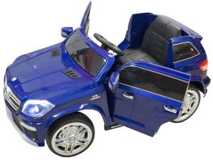 Masinuta electrica Premier Mercedes GL63, 12V, roti cauciuc EVA, scaun piele ecologica, albastra [3]