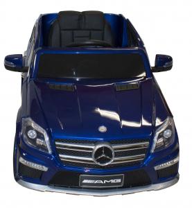 Masinuta electrica Premier Mercedes GL63, 12V, roti cauciuc EVA, scaun piele ecologica, albastra [2]