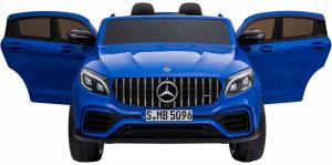 Masinuta electrica 4x4 Premier Mercedes GLC 63S Maxi, 12V, roti cauciuc EVA, scaun piele ecologica, albastru6