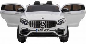 Masinuta electrica 4x4 Premier Mercedes GLC 63S Maxi, 12V, roti cauciuc EVA, scaun piele ecologica, alb7
