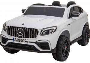 Masinuta electrica 4x4 Premier Mercedes GLC 63S Maxi, 12V, roti cauciuc EVA, scaun piele ecologica, alb0