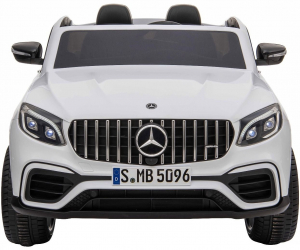 Masinuta electrica 4x4 Premier Mercedes GLC 63S Maxi, 12V, roti cauciuc EVA, scaun piele ecologica, alb1