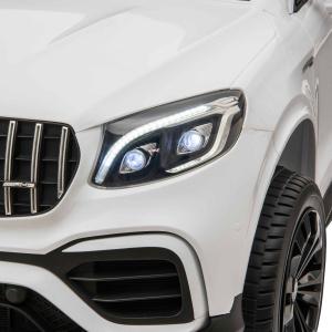 Masinuta electrica 4x4 Premier Mercedes GLC 63S Maxi, 12V, roti cauciuc EVA, scaun piele ecologica, alb12