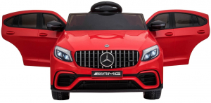 Masinuta electrica Mercedes GLC 63S, roti cauciuc EVA, scaun piele ecologica2