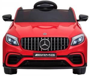 Masinuta electrica Mercedes GLC 63S, roti cauciuc EVA, scaun piele ecologica4