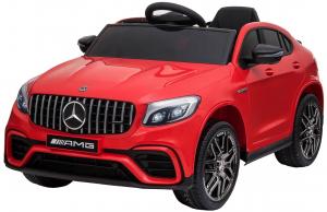 Masinuta electrica Mercedes GLC 63S, roti cauciuc EVA, scaun piele ecologica0