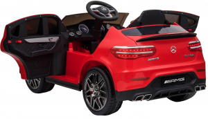 Masinuta electrica Mercedes GLC 63S, roti cauciuc EVA, scaun piele ecologica1