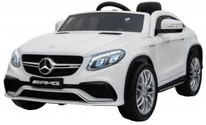 Masinuta electrica Premier Mercedes GLE 63 Coupe, 12V, roti cauciuc EVA, scaun piele ecologica, alba [0]