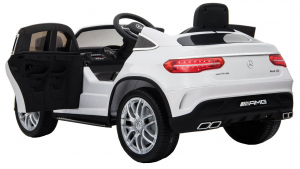 Masinuta electrica Premier Mercedes GLE 63 Coupe, 12V, roti cauciuc EVA, scaun piele ecologica, alba [2]
