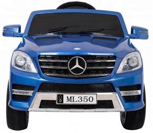 Masinuta electrica Premier Mercedes ML-350, 12V, roti cauciuc EVA, scaun piele ecologica, albastra3