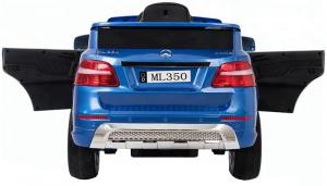 Masinuta electrica Premier Mercedes ML-350, 12V, roti cauciuc EVA, scaun piele ecologica, albastra1