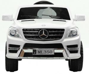 Masinuta electrica Premier Mercedes ML-350, 12V, roti cauciuc EVA, scaun piele ecologica, alba [1]