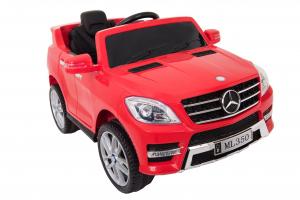 Masinuta electrica Premier Mercedes ML-350, 12V, roti cauciuc EVA, scaun piele ecologica, rosie [2]