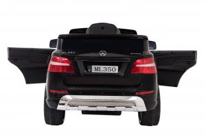 Masinuta electrica Premier Mercedes ML-350, 12V, roti cauciuc EVA, scaun piele ecologica, neagra3