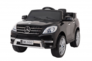 Masinuta electrica Premier Mercedes ML-350, 12V, roti cauciuc EVA, scaun piele ecologica, neagra0