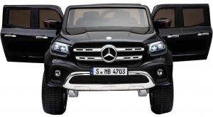 Masinuta electrica 4 x 4 Premier Mercedes X-Class, 12V, roti cauciuc EVA, scaun piele ecologica, negru [1]