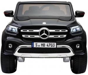 Masinuta electrica 4 x 4 Premier Mercedes X-Class, 12V, roti cauciuc EVA, scaun piele ecologica, negru [2]