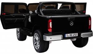 Masinuta electrica 4 x 4 Premier Mercedes X-Class, 12V, roti cauciuc EVA, scaun piele ecologica, negru [4]