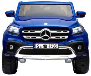 Masinuta electrica 4 x 4 Premier Mercedes X-Class, 12V, roti cauciuc EVA, scaun piele ecologica, albastru [8]
