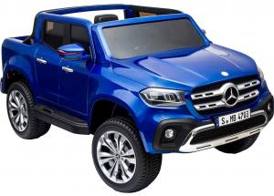 Masinuta electrica 4 x 4 Premier Mercedes X-Class, 12V, roti cauciuc EVA, scaun piele ecologica, albastru [5]