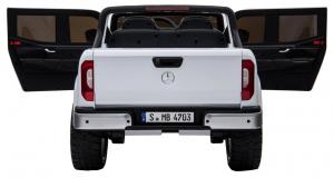 Masinuta electrica 4 x 4 Premier Mercedes X-Class, 12V, roti cauciuc EVA, scaun piele ecologica, alb [7]