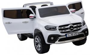 Masinuta electrica 4 x 4 Premier Mercedes X-Class, 12V, roti cauciuc EVA, scaun piele ecologica, alb [8]