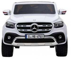 Masinuta electrica 4 x 4 Premier Mercedes X-Class, 12V, roti cauciuc EVA, scaun piele ecologica, alb [1]