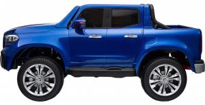 Masinuta electrica 4 x 4 Premier Mercedes X-Class, 12V, roti cauciuc EVA, scaun piele ecologica, albastru [7]