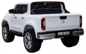 Masinuta electrica 4 x 4 Premier Mercedes X-Class, 12V, roti cauciuc EVA, scaun piele ecologica, alb [4]